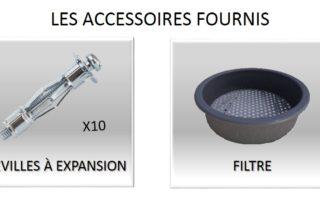 Accessoires fournis avec le collecteur Ecol'eaumur.