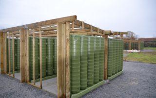 Installation des abris récupérateur d'eau de pluie ecoleaumur