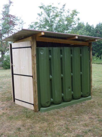 Abri de jardin avec récupérateur d'eau Ecol'eaumur