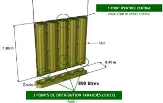 Dimensions et caractéristiques de la citerne embarquée Ecol'eaumur